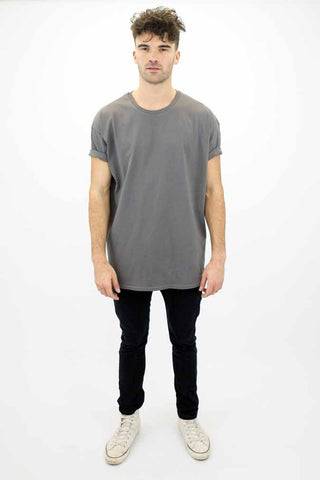 DEEP Basic Mens Oversize Classic T-Shirt in Charcoal