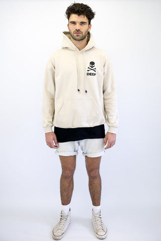 DEEP CROSSBONES Hooded Sweatshirt - Sand