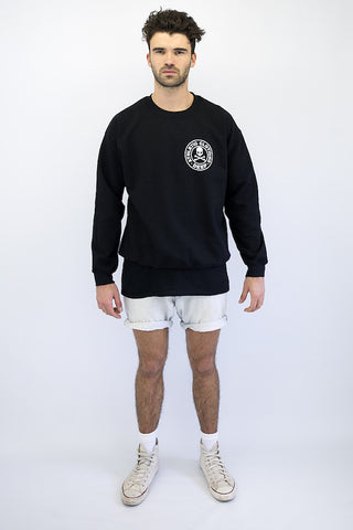 DEEP Athletic Mens Crew Neck Sweatshirt in Black by DEEP Clothing