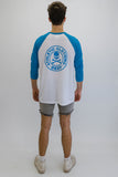 DEEP ATHLETIC Oversize Baseball T-Shirt - Blue