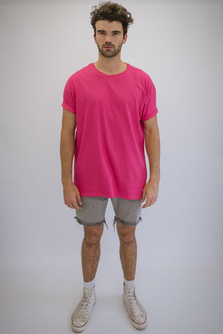 DEEP Oversize T-Shirt in Cerise Pink