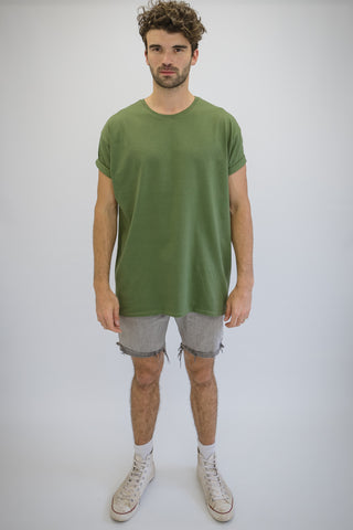 DEEP Oversize T-Shirt in Military Green