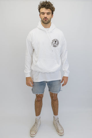 DEEP ATHLETIC Hooded Sweatshirt - White