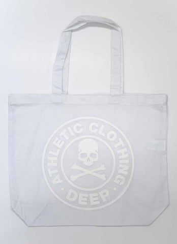 DEEP Athletic DEEP Athletic Cotton Gym/Shopper Bag in White