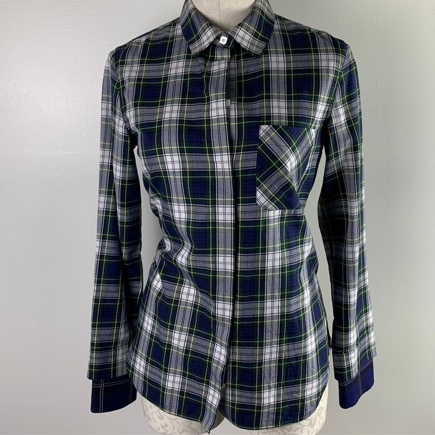 Courreges Plaid Blouse Size XS