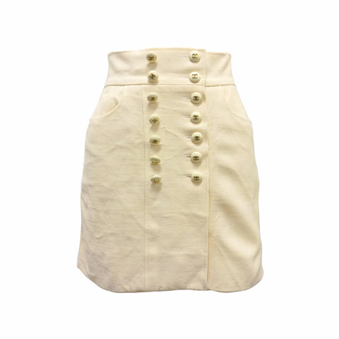 Chanel Cream Skirt Size Small