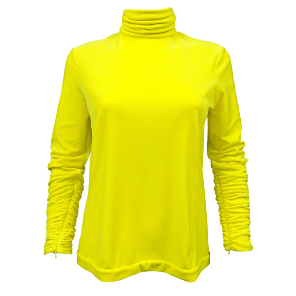 Delpozo Yellow Turtleneck Size S