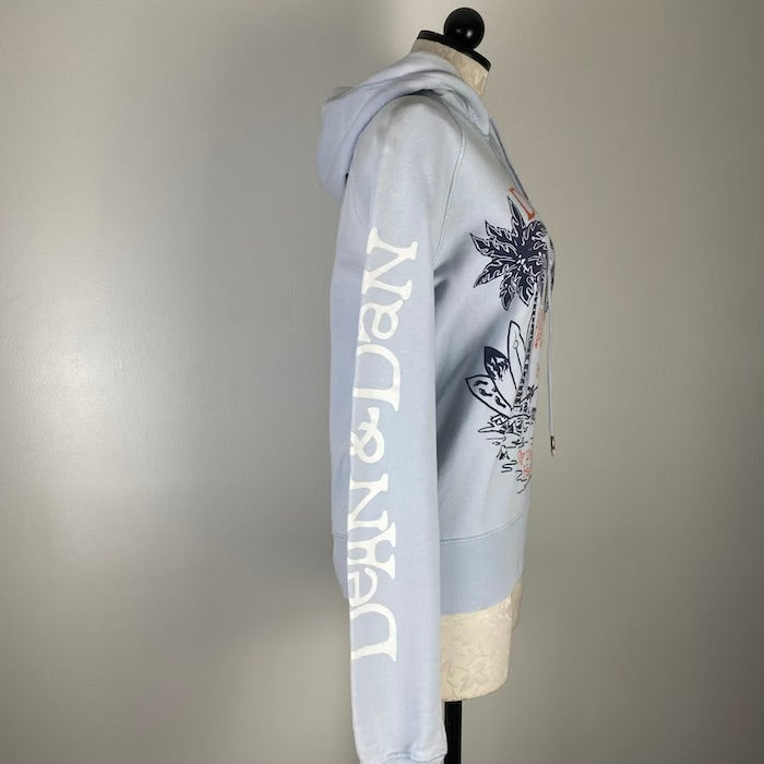 DSquared2 Baby Blue Palm Tree Hoodie S