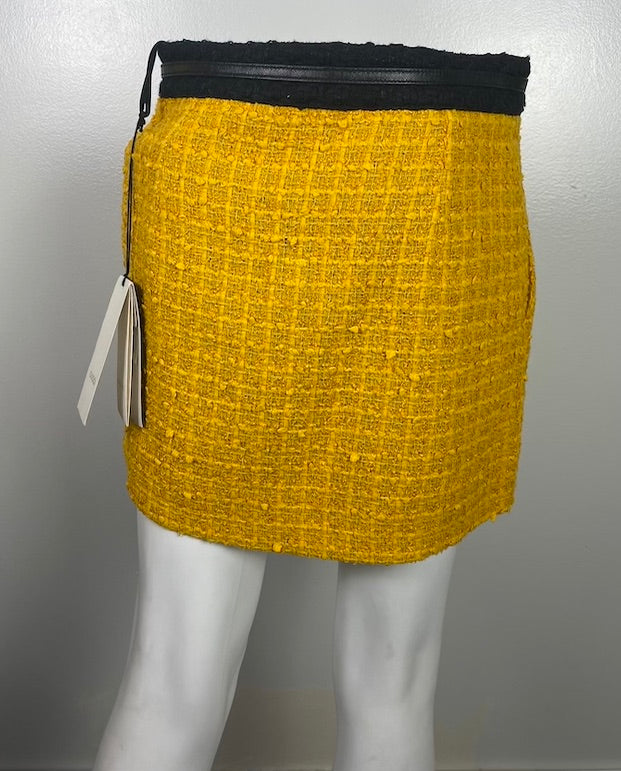 Gucci Yellow Boucle Skirt NWT M