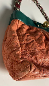 Marc Jacobs Coral Green & Red Quilted Purse