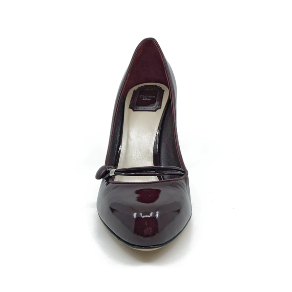 Dior Burgundy Patent Leather Heels Size 9.5