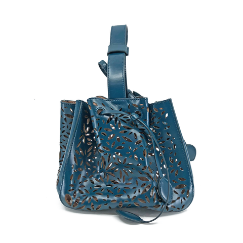 Alaia Dark Teal Laser Cut Bag