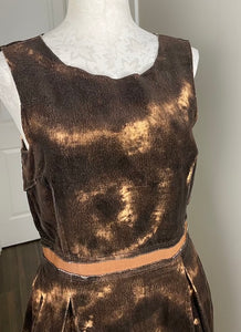 D&G Brown Printed Dress L