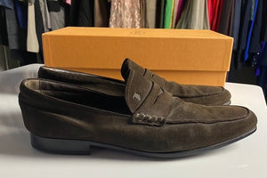 Mens TODS Brown Suede Loafers Size 10.5