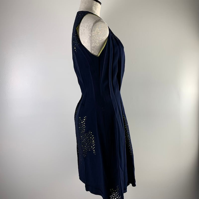 Maison Rabih Kayrouz Blue & Yellow Dress S