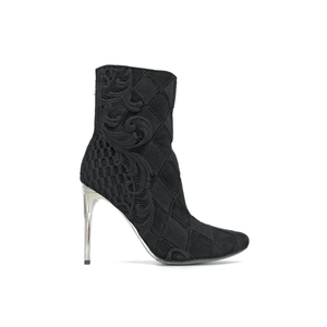 Balmain Black Knitted Boots Size 7