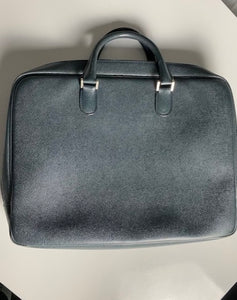 Valextra Navy Leather Briefcase