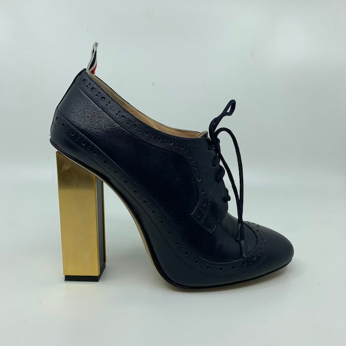 Thom Browne Gold & Navy Heels Size 7