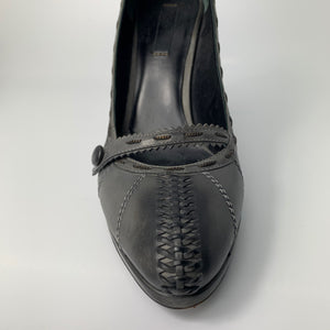 Bottega Veneta Charcoal Grey Heels Size 8
