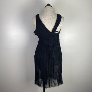 Prada Black Ruched Silk Dress M