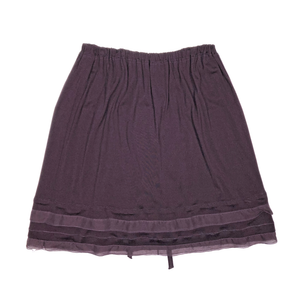 Chanel Purple Skirt Size L