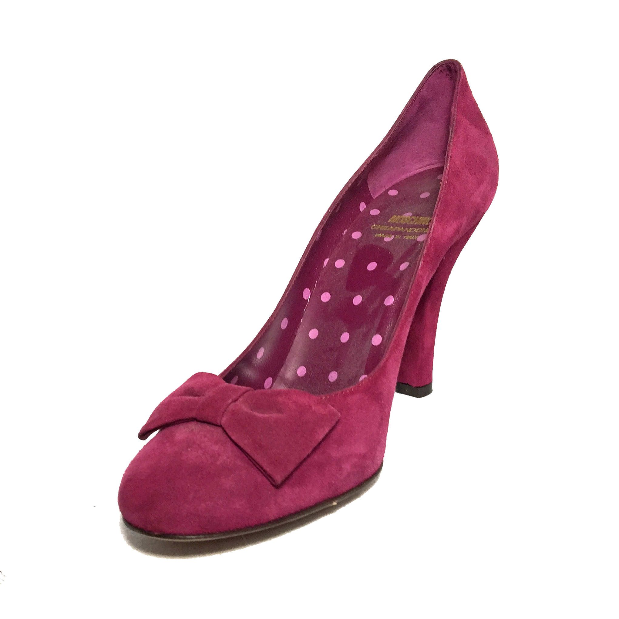 Moschino Berry Suede Heels Size 9