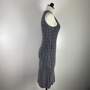 Armani Collezione Grey Printed Dress M
