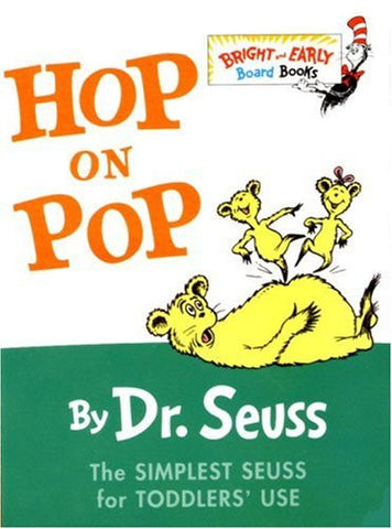 Hop on Pop board book by Dr. Seuss