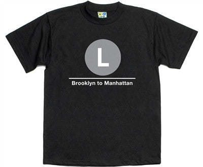 NYC Subway L Line T-Shirt
