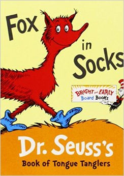 Fox in Socks board book by Dr. Seuss