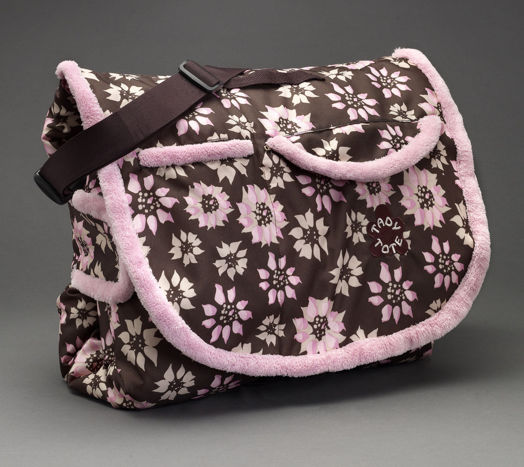 Tady Tote - Flower Print convertible play mat, diaper bag