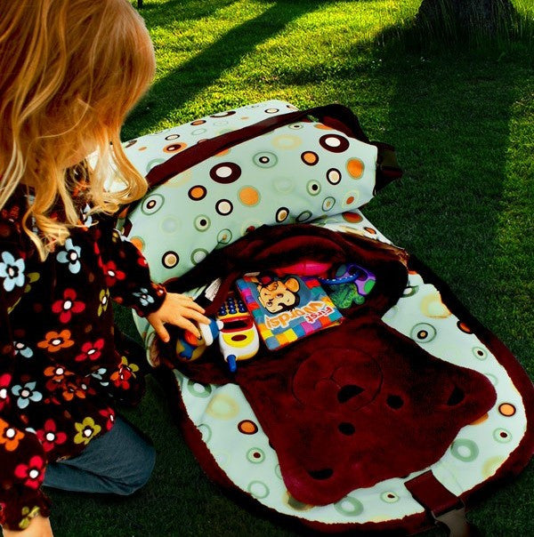 Tady Tote - Bubble Print convertible play mat, diaper bag