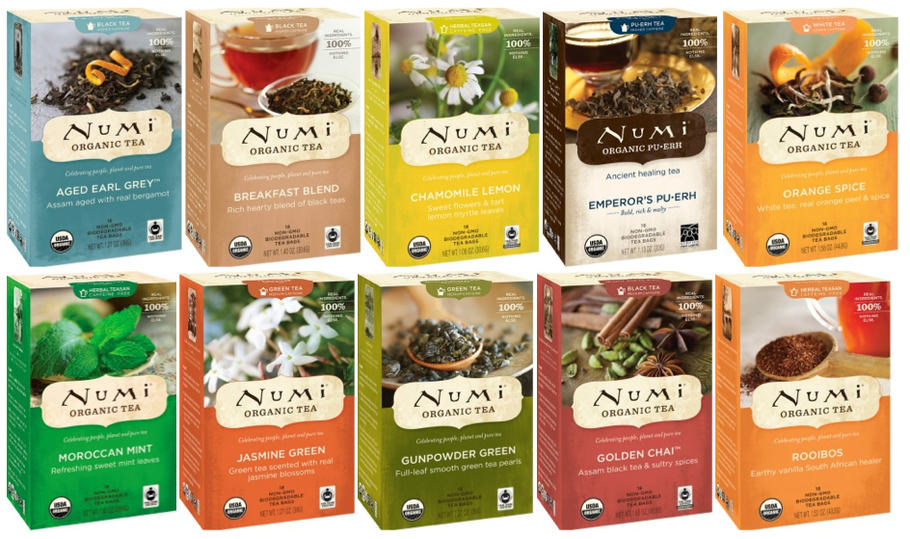 Numi Organic Teas - Organic Fair Trade Certified teas with biodegradable packaging