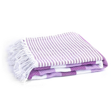 Load image into Gallery viewer, Copy of Copy of 100% Turkish Cotton Towel in Purple Flower - Boshemia Body