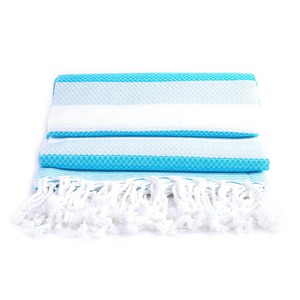 100% Turkish Cotton Towel in Blue Water - Boshemia Body
