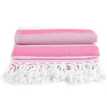 Load image into Gallery viewer, 100% Turkish Cotton Towel in Bright Hibisus - Boshemia Body