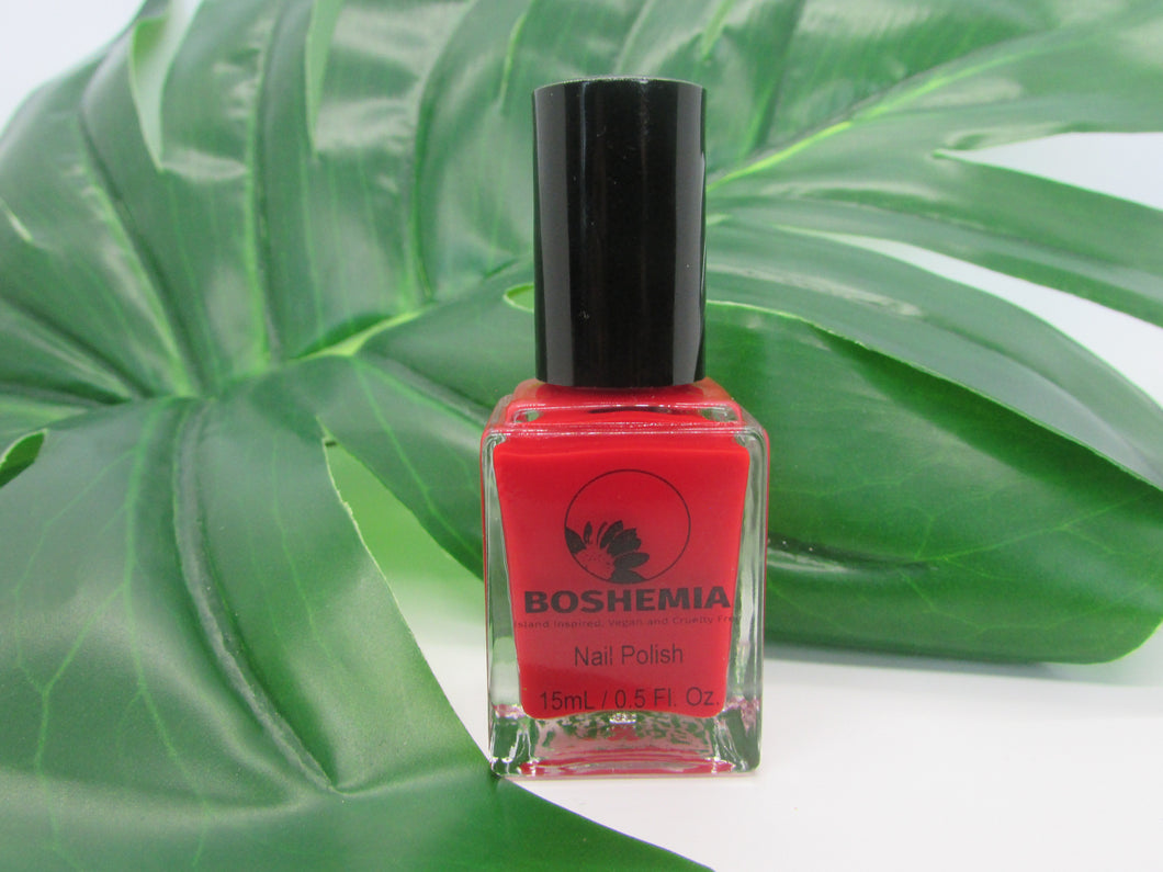 Boshemia NAILS 10 Free Vegan and Cruelty-Free Polish - Happy Hibiscus
