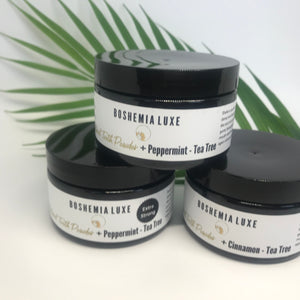 Boshemia Luxe All Natural Tooth Powder - Peppermint + Tea Tree