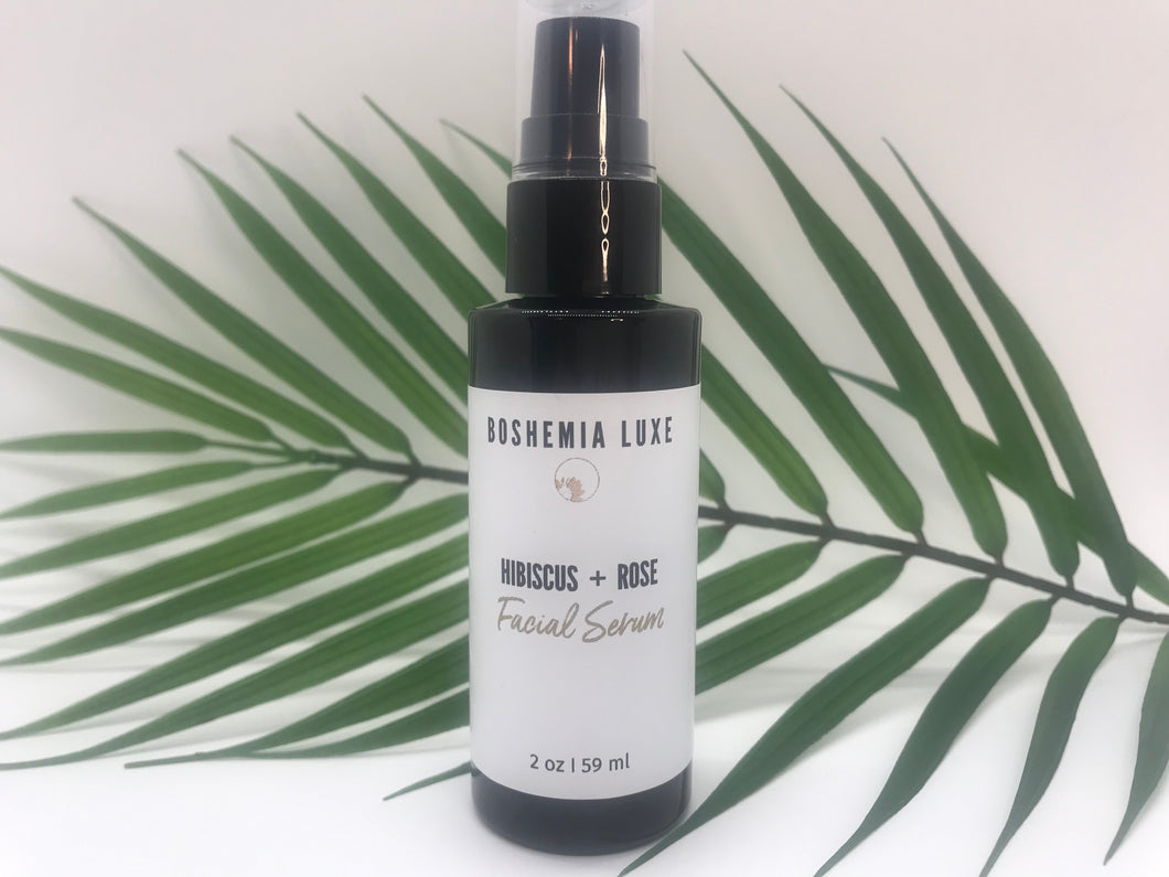 Luxurious Small Batch Vegan Hibiscus and Rose Facial Serum - Boshemia Skin