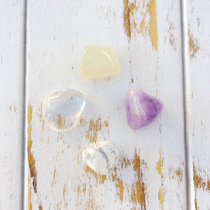 Dream Easy * Amethyst, Moonstone, Crystal & White