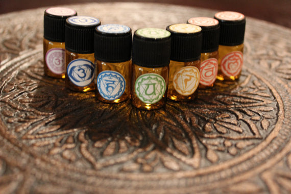 Chakra Balancing Set  With Organic Essential Oils