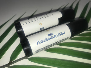 Bliss Aromatherapy Essential Oil With Genuine Blue Sodalite Gemstone Rollerballs