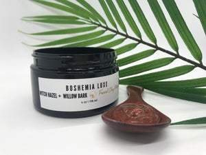 Luxurious Small Batch Vegan Witch Hazel And Willow Bark Blemish Gel Masque - Boshemia Skin