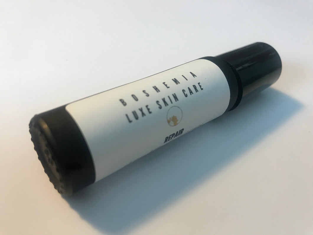 Luxurious Small Batch Vegan Repair Facial Oil Roller For Troubled Skin by Boshemia Luxe Skin