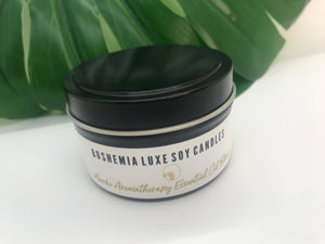 Luxurious Awake Aromatherapy Essential Oil Soy Candle by Boshemia Aromatherapy
