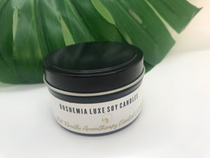 Luxurious Just Breathe Aromatherapy Essential Oil Soy Candle by Boshemia Aromatherapy