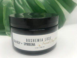 Luxurious Small Batch Vegan Sea Kelp And Spirulina Clay Masque - Boshemia Skin