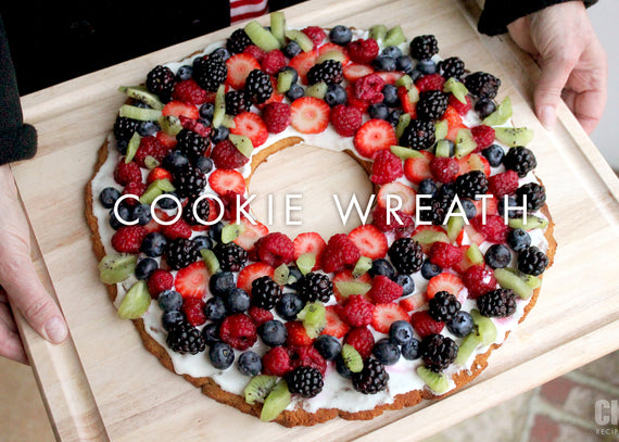 Cookie Wreath Fruit Pizza