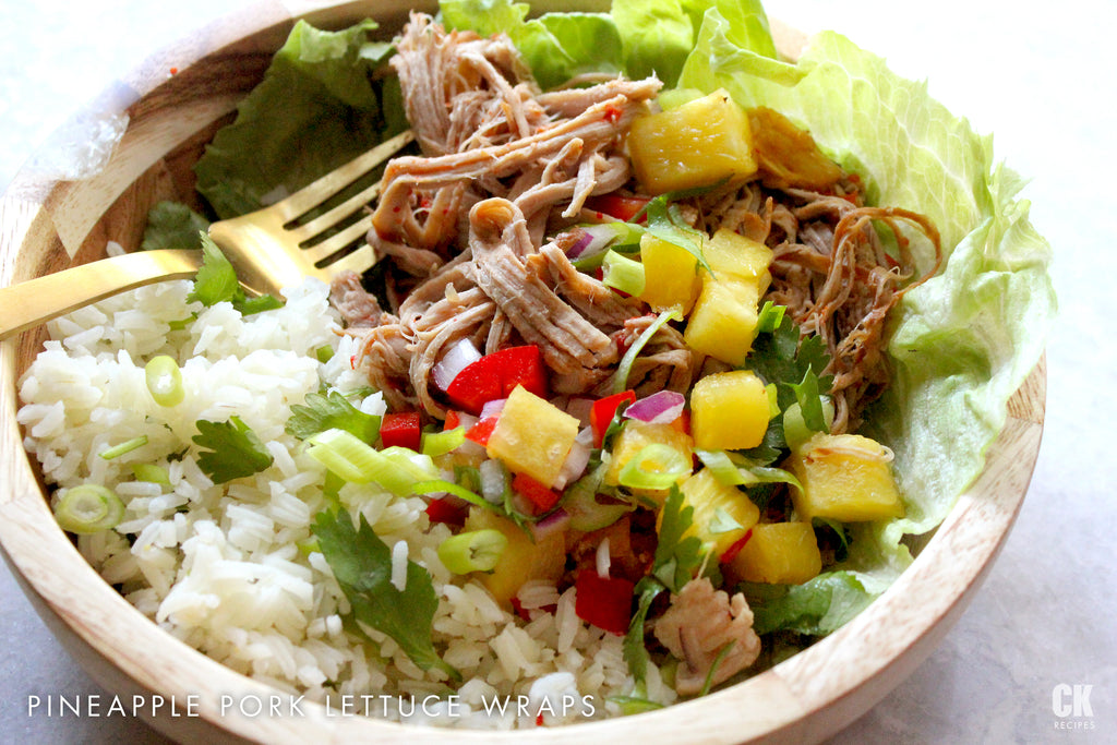 Pineapple Pork Lettuce Wraps