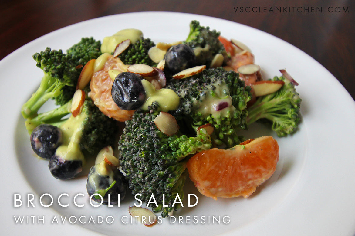 Broccoli Salad with Avocado Citrus Dressing